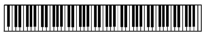 88-key piano keyboard