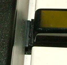 Close up of broken key