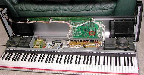 How to open Yamaha Clavinova PF P100 for repairs