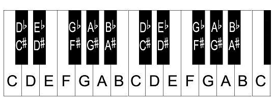 Piano Keys Labeled: The Layout Of Notes On The Keyboard