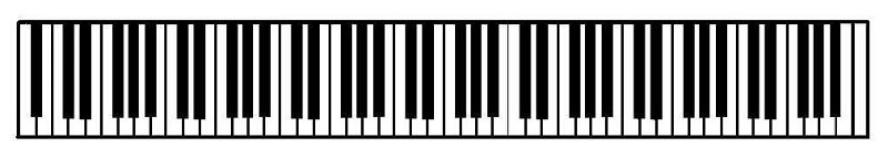 88-key piano keyboard
