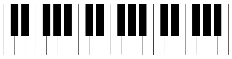 blank keyboard template printable - piano keyboard diagram keys with notes