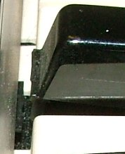 Close up of elevated key