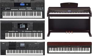 Yamaha keyboards and digital pianos